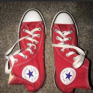 Converse red high tops